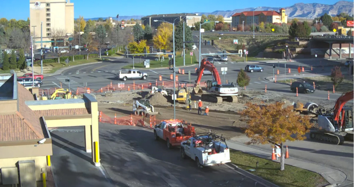 Construction continues on Horizon Drive in Grand Junction, Colorado.