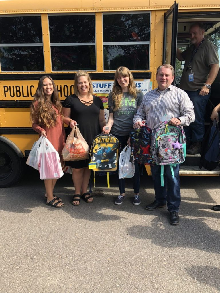 """Circuit Media Employees Donate School Supplies to """"Stuff the Bus"""""""