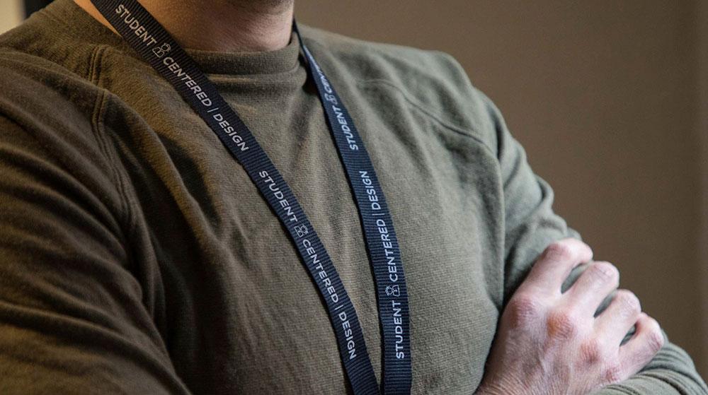 Photo of man wearing Job Corps lanyard