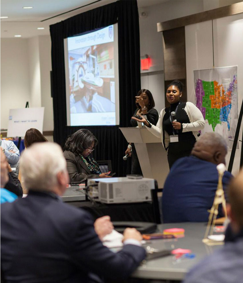Picture from the Job Corps Student Centered Design event and presentation