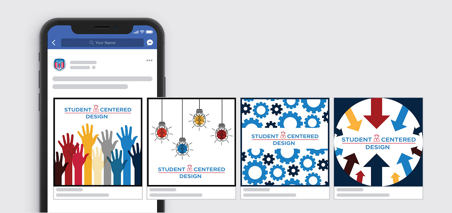Photo of Job Corps Student Centered Design social posts