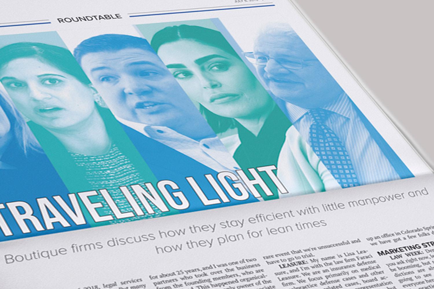 close up perspective of a designed header image for a featured article in Law Week