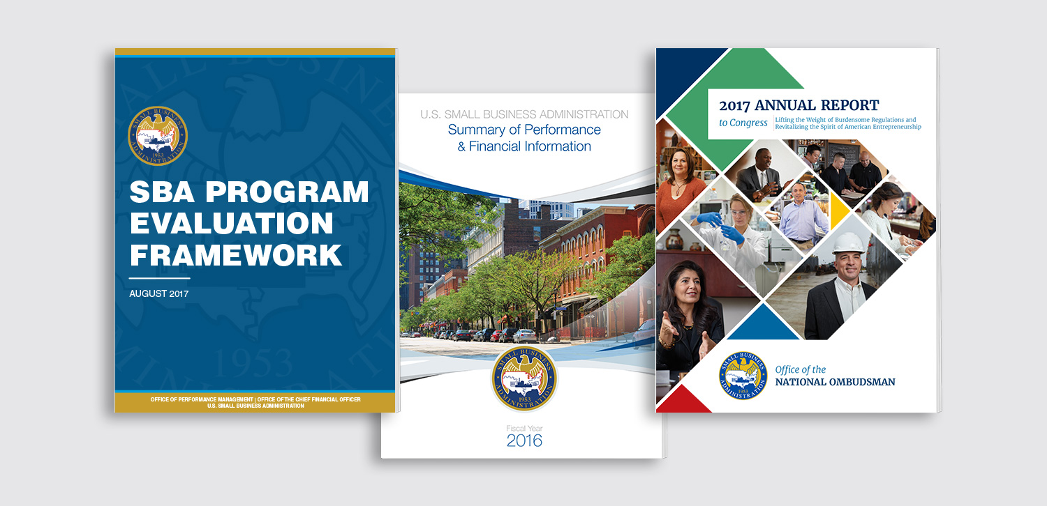 Image of Small Business Administration annual reports created by Circuit Media