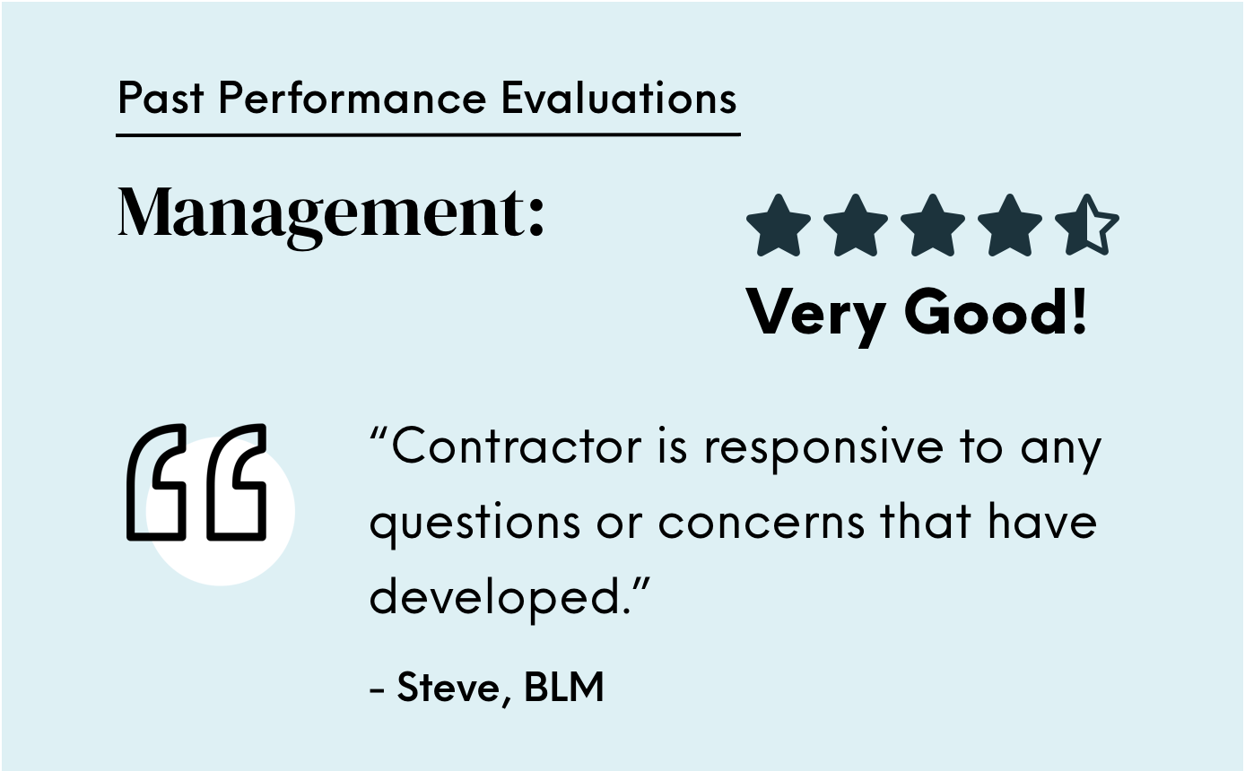 Very good project management evaluation from the BLM