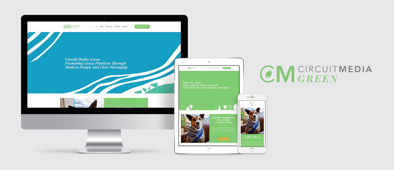 CM Green Website on desktop, tablet and mobile.