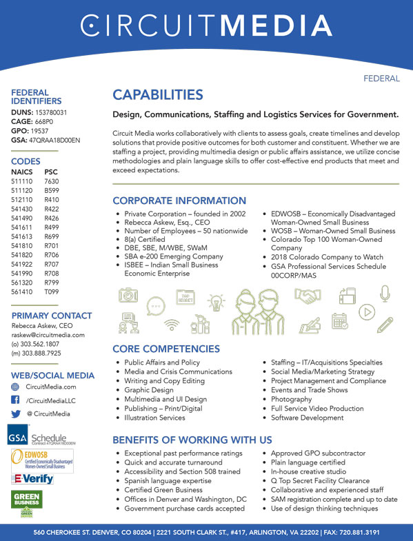 PDF Download of our Federal Capabilities Statement