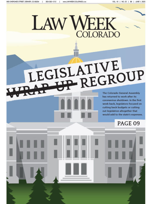 Newspaper cover of Denver's State Capitol