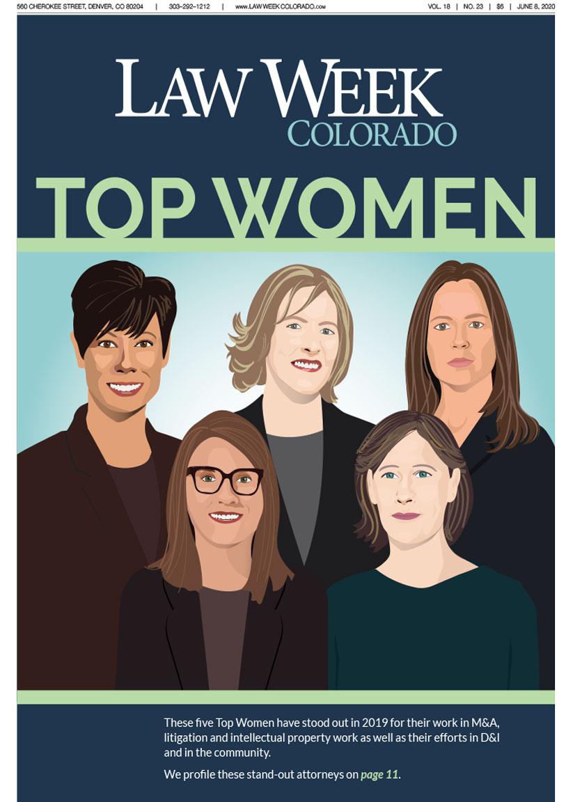 Law Week Colorado's 2020 Top Women Cover