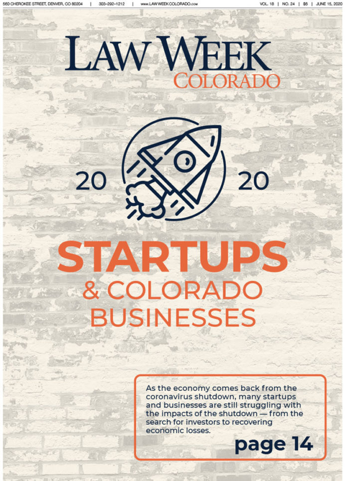 Law Week Colorado Startups and Colorado Businesses Cover