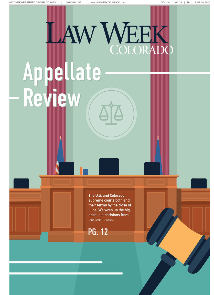 Law Week Colorado 2020 Appellate Review Cover