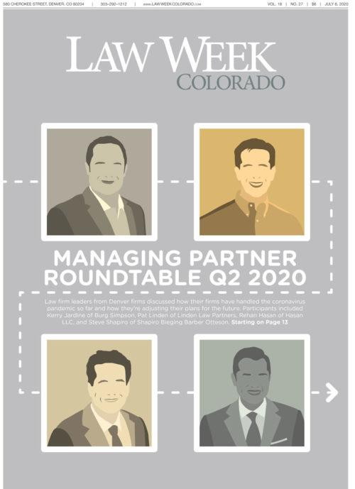 Law Week Colorado 2020 Managing Partner Roundtable Quarter 2 Cover