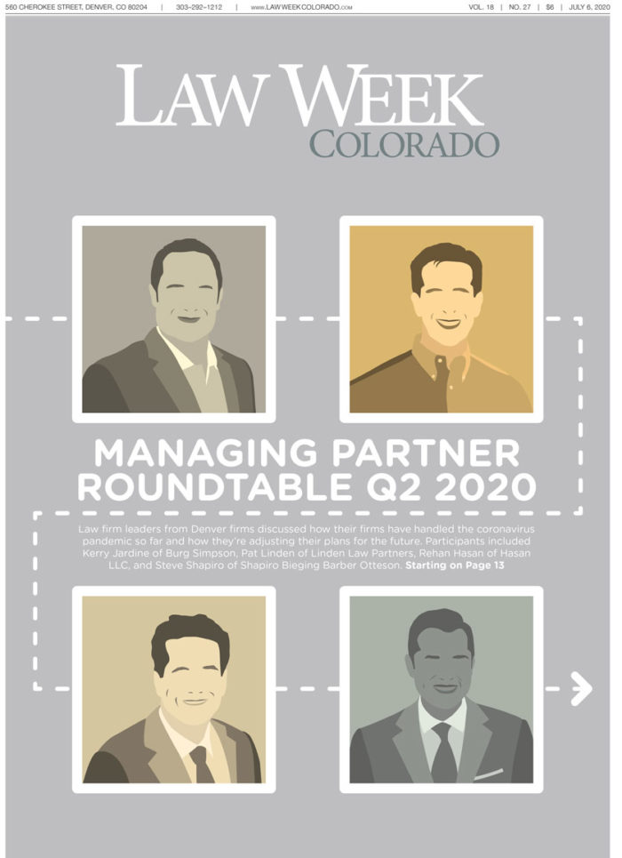 Law Week Colorado 2020 Managing Partner Roundtable Quarter 2 Cover