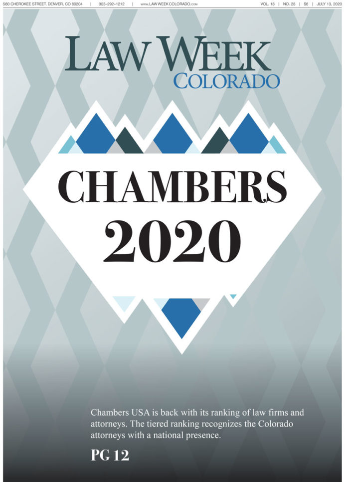 Law Week Colorado's Chambers USA 2020 cover