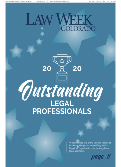 Law Week Colorado 2020 Outstanding Legal Professionals Cover