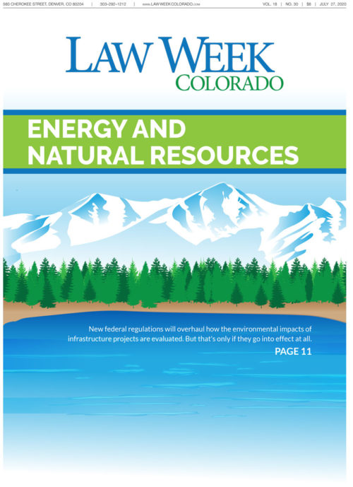 Law Week Colorado Energy and Natural Resources Cover