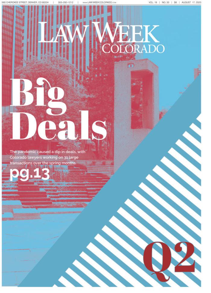 Law Week Colorado Big Deals Q2 Cover