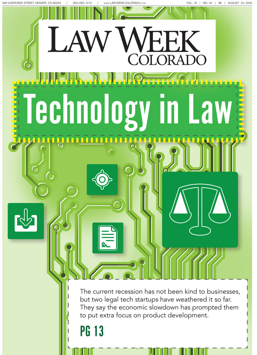 Law Week Colorado 2020 Technology In Law Cover