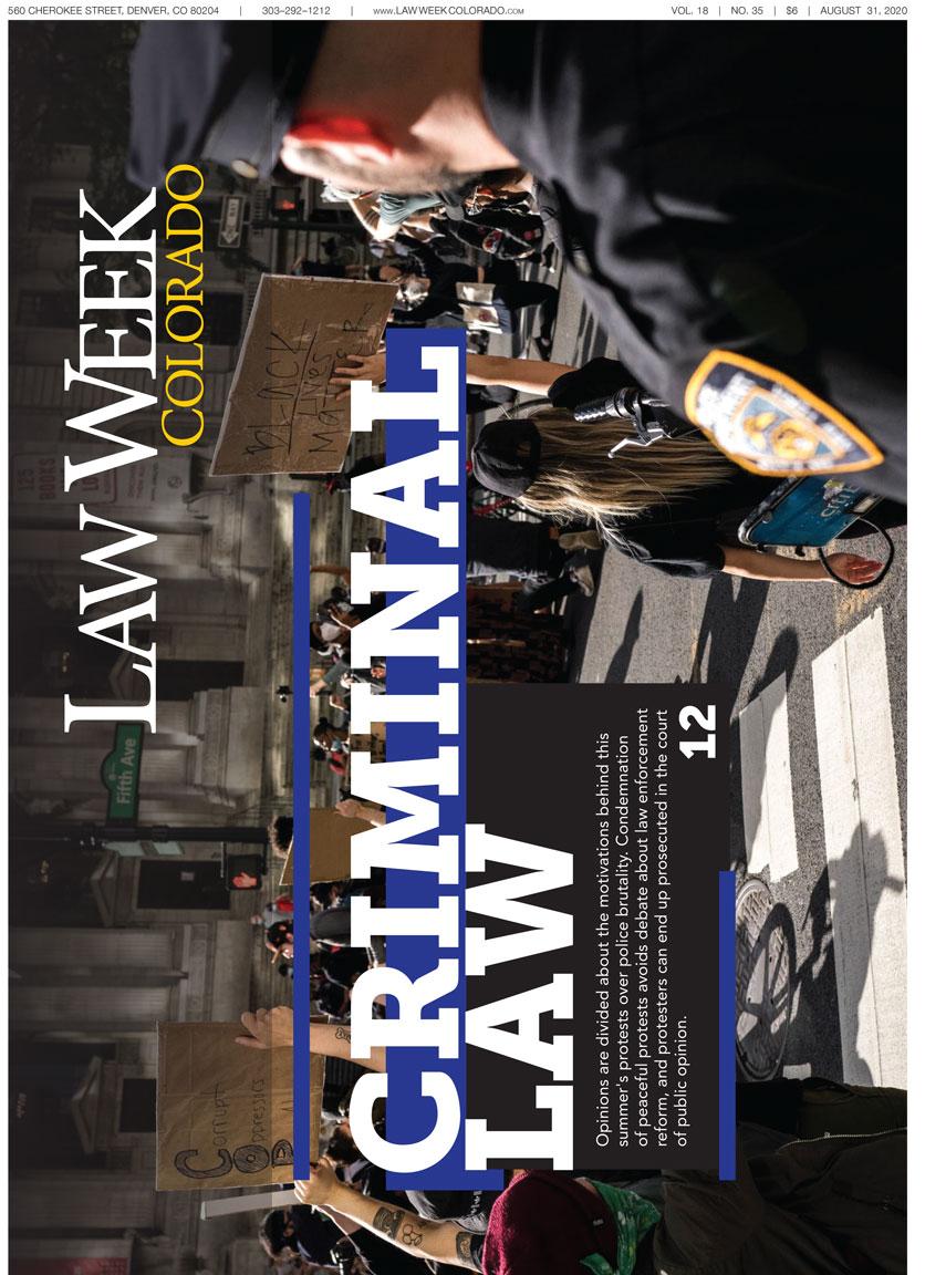 Law Week Colorado 2020 Criminal Law Cover