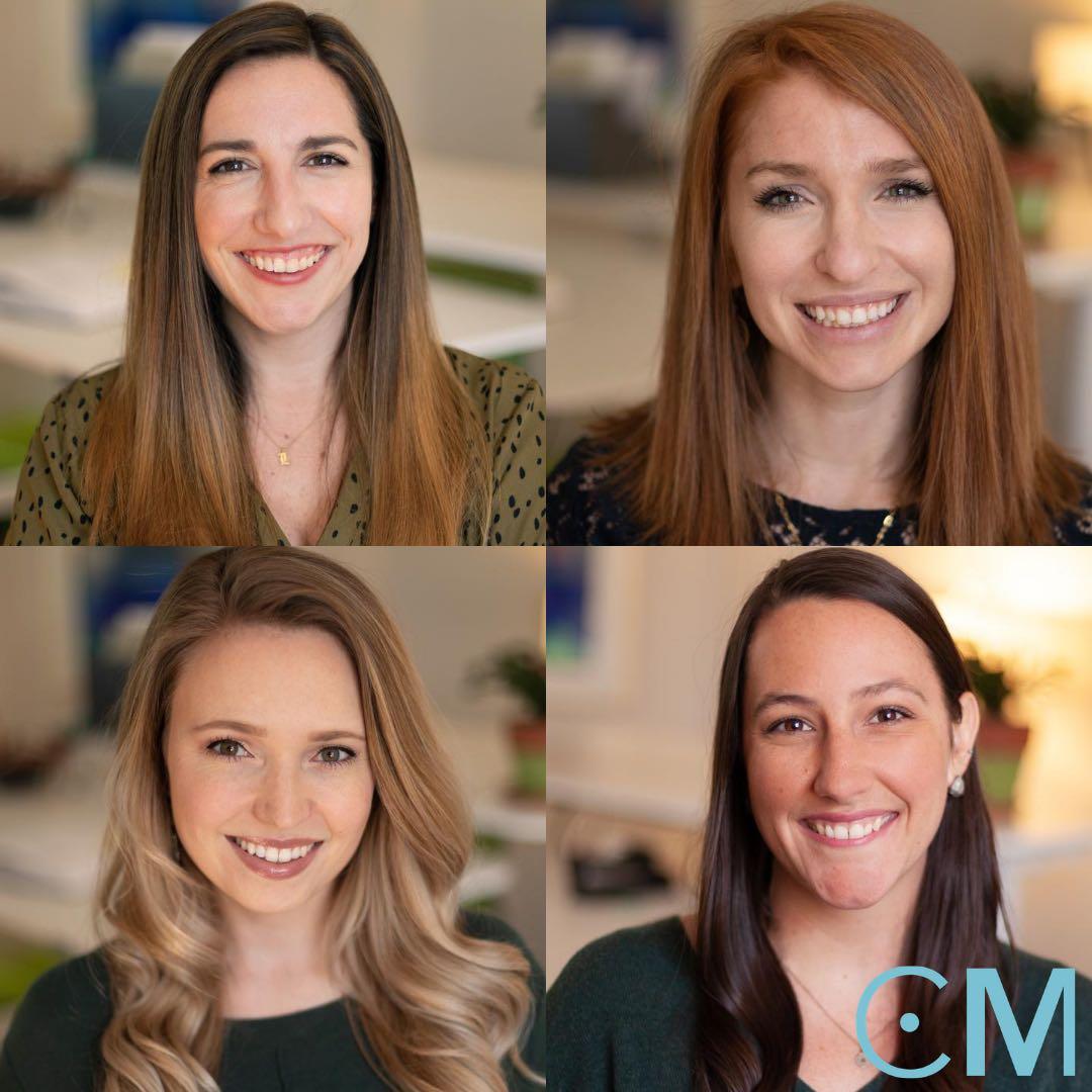 Lisa McKell, Stephanie, Layman, Ali Manor and Elizabeth DeWaard headshots in a collage