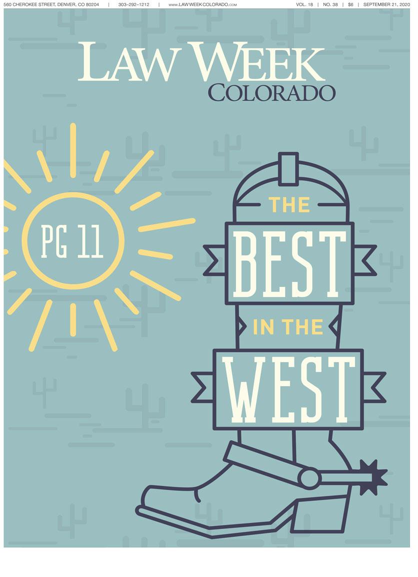 Law Week Colorado 2020 Best Lawyers Cover