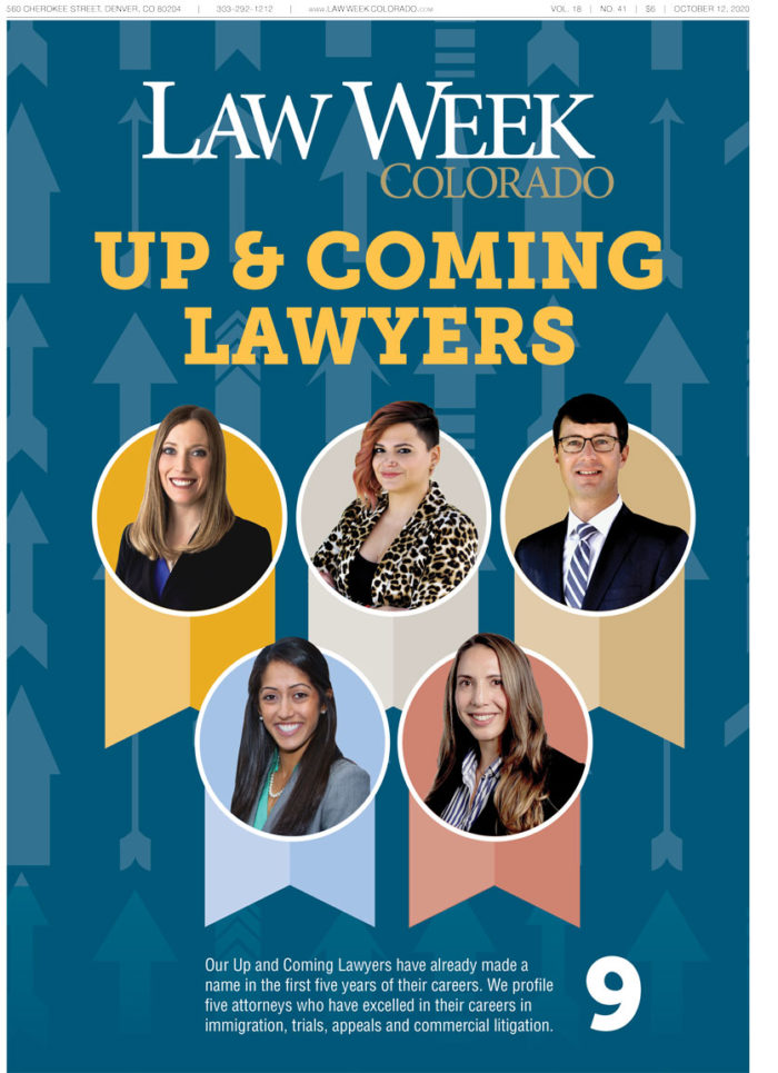 Law Week Colorado Up and Coming Lawyers Cover