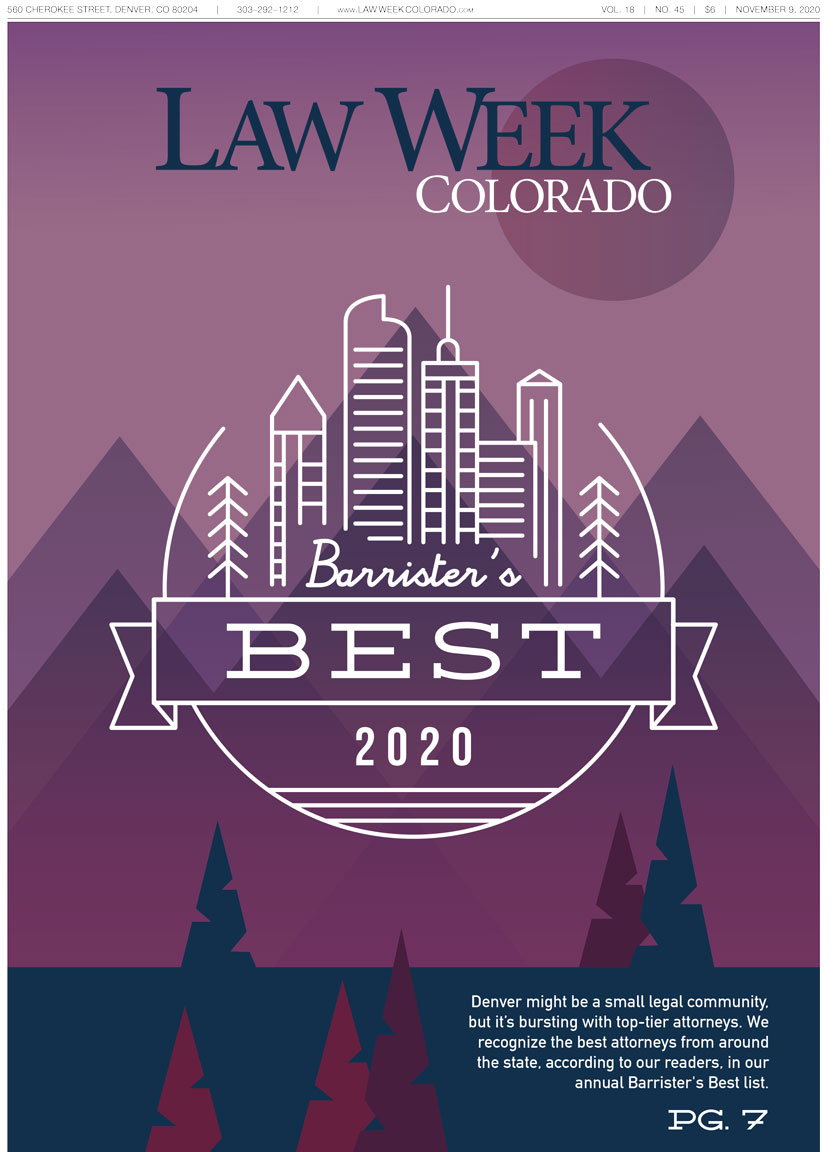 Law Week Colorado Barrister's Best Cover