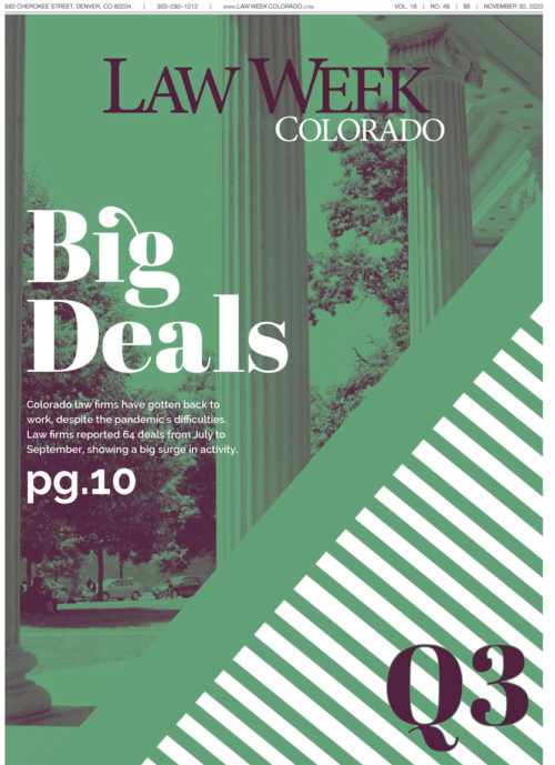 Law Week Colorado Big Deals Q3 Cover