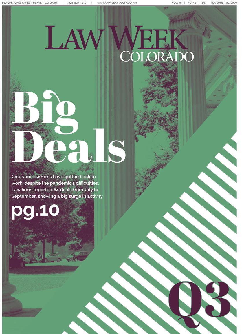 Law Week Colorado Big Deals Q3 Cover