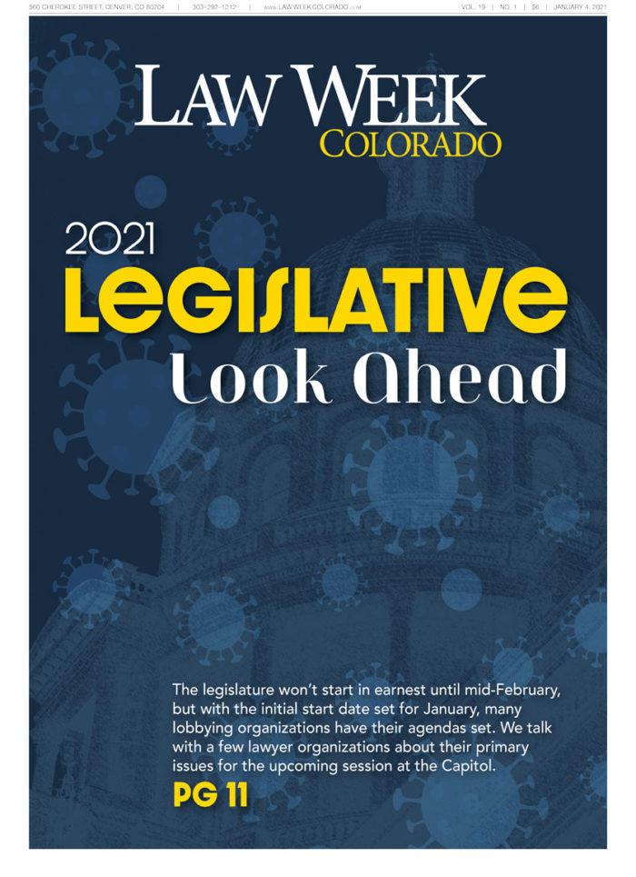 Law Week Colorado Legislative Lookahead Cover