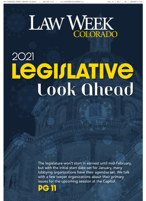 Law Week Colorado Legislative Lookahead Cover