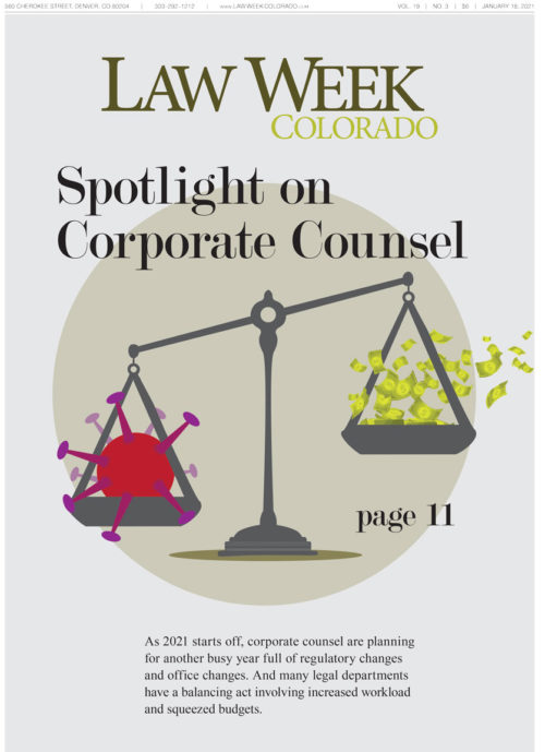 Law Week Colorado Corporate Counsel Spotlight Cover