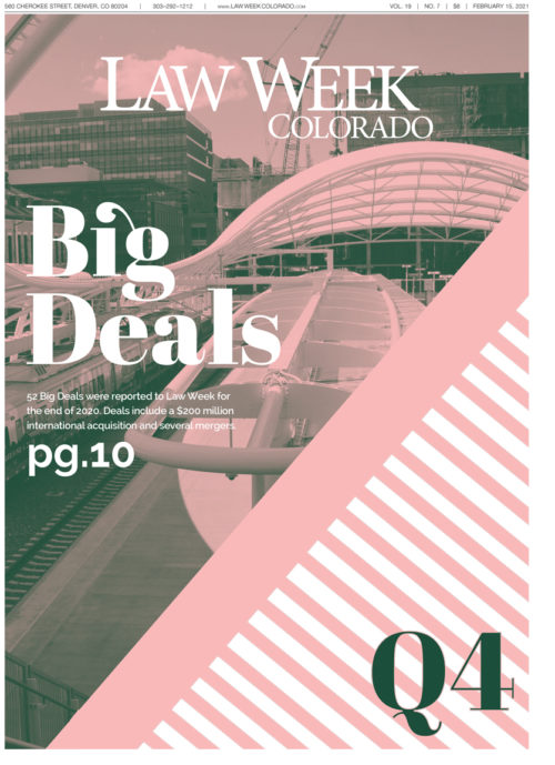 Law Week Colorado Big Deals Q4 Cover