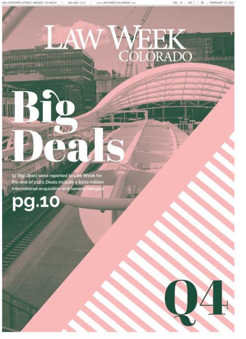 Law Week Colorado Big Deals Q4 Cover