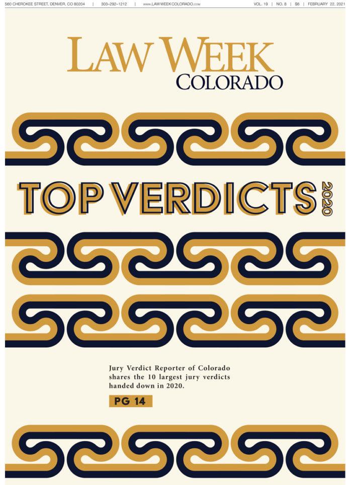 Law Week Colorado Top Verdicts Cover