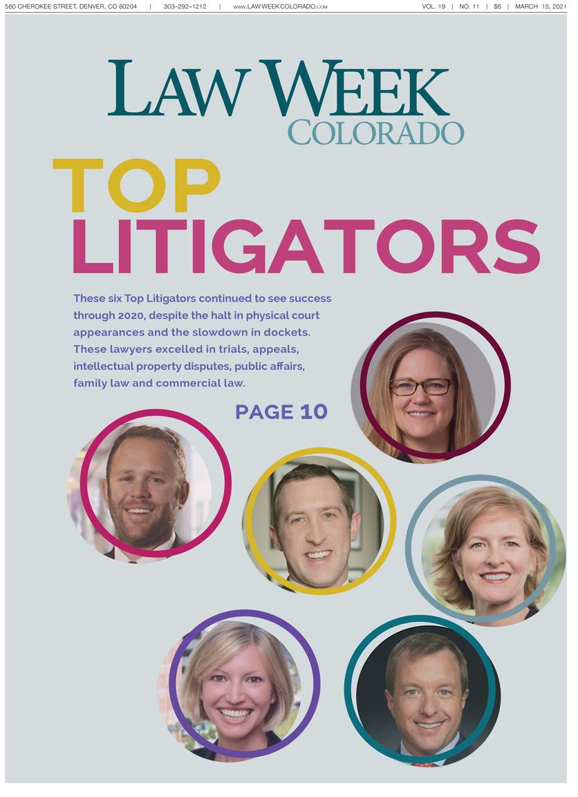 Law Week Colorado Top Litigators Cover