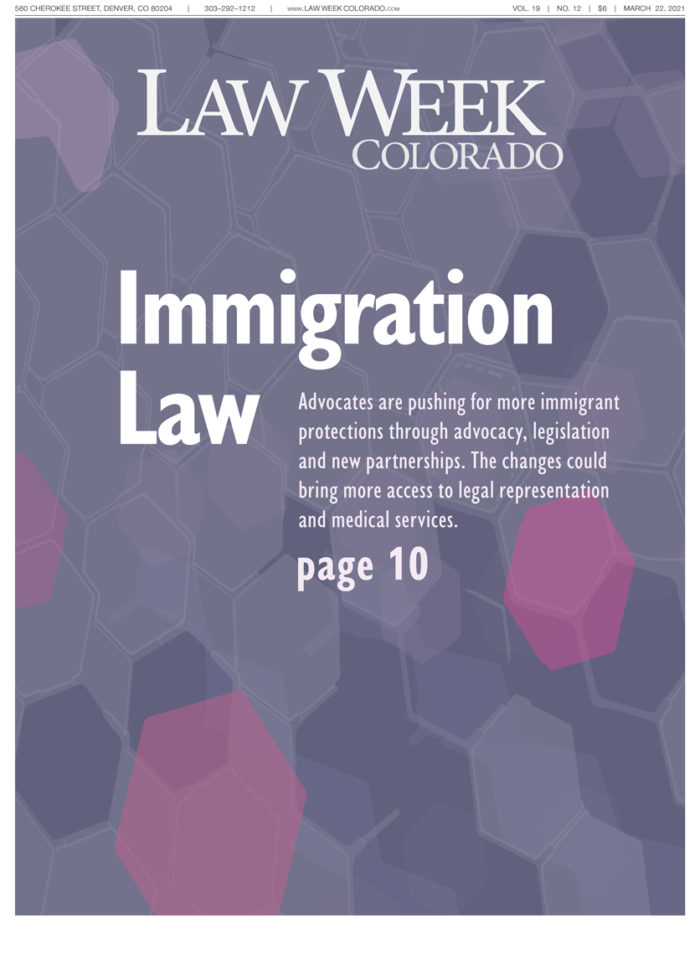 Law Week Colorado Immigration Law Cover