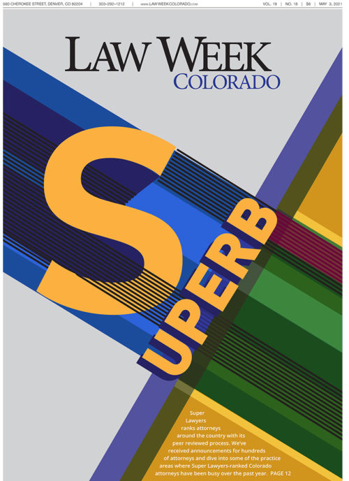 Law Week Colorado Super Lawyers Cover