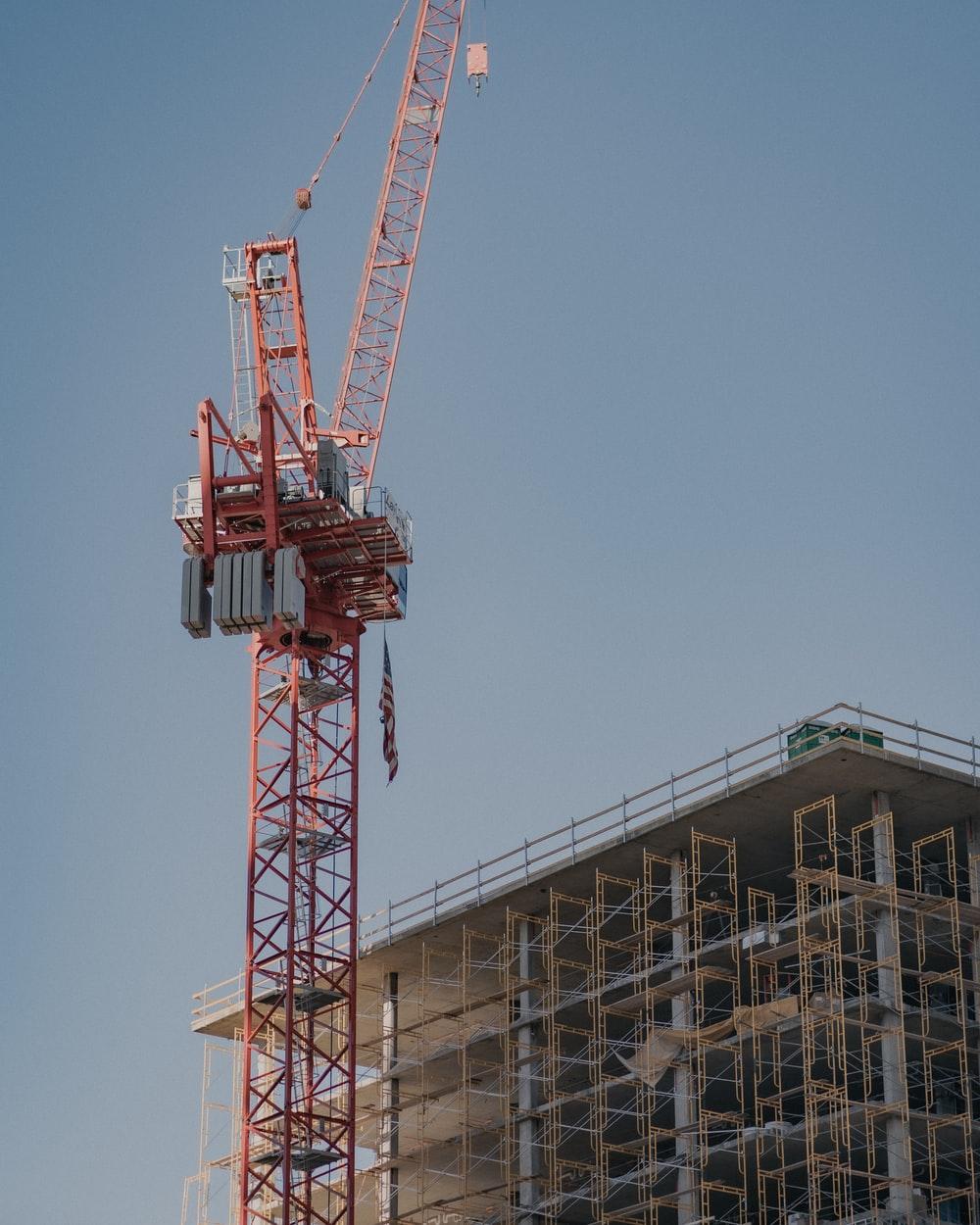 Crane above a building in progress